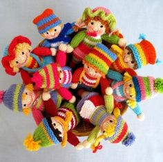 Jolly Tots dolls knitting pattern INSTANT DOWNLOAD by dollytime