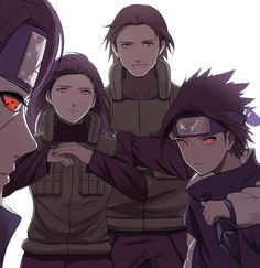 Uchiha power (as far as I know, Mikoto didn't unlock the sharingan but we don't mind this art is awesome)