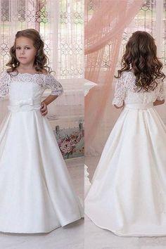 Communion Party Prom Princess Pageant Bridesmaid Wedding Flower Girl Dress  108 e4ebb4a4340a