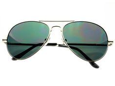 Celebrity Retro Classic Style Aviator Sunglasses Silver A1043