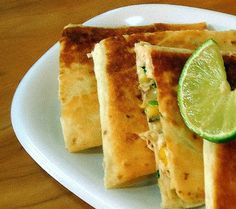 One Perfect Bite: Remains of the Day - Turkey and Corn Quesadillas with Guacamole