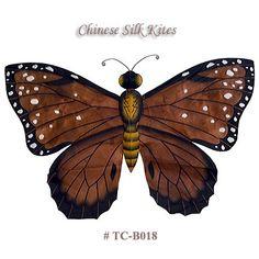 TC-B018+Dark+Brown+Silk+Butterfly+Kite(Small)+-+Chinese+Silk+Kites