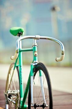 beautiful green bicycle