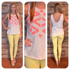 Free People top! Top and pants are available in store!