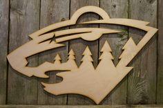Minnesota Wild logo wall hanging sign