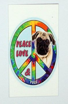 Peace Love Pug Magnet by LadyPhoenixCreations on Etsy, $4.00