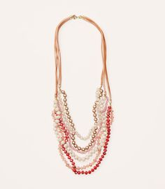 Thumbnail Image of Primary Image of Pink Rondelle Necklace