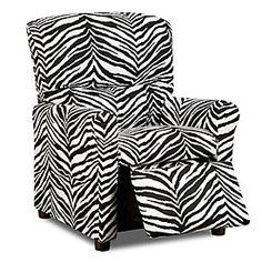Zebra Kiddie Recliner at Big Lots. Allison room?