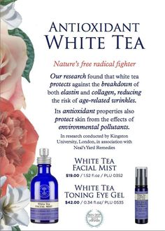 More clinical support for the White Tea product line....