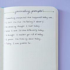Se você tem dificuldade para pensar em coisas sobre as quais escrever, crie uma página com instruções prontas: