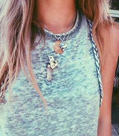 Festival Tank and Necklaces