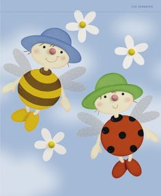 Bee and ladybug Crafts For Girls, Diy And Crafts, Paper Crafts, First Birthday Photos, School Decorations, Spring Activities, Nature Crafts, Baby Decor, Spring Crafts