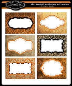 The Haunted Apothecary Printable Cards Labels & Tags by DreAmLoft, $2.00