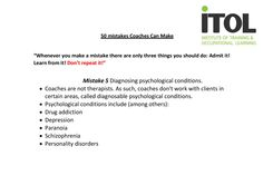 Mistake No.5 from our 50 Mistakes Coaches Can Make