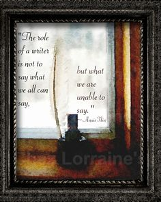 The Role of a Writer: A Creative Watercolor Fine by ChezLorraines