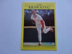 Tom Browning Fleer 91 Baseball Card Collection.