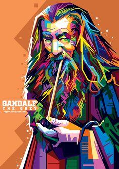 also provide for custom WPAP portrait, send me a note if you interested. Gandalf in WPAP Art And Illustration, Portrait Illustration, Illustrations And Posters, Retro Kunst, Retro Art, Pop Art Portraits, Portrait Art, Pop Art Dibujos, Sketch Manga
