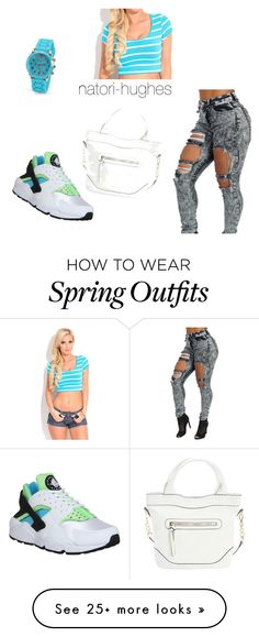 """Spring Outfits "" by natori-hughes on Polyvore featuring NIKE, Diophy, women's clothing, women, female, woman, misses and juniors"
