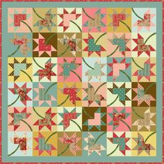 Leaves a'Flutter is a very masculine, fall quilt made from 21 – 10 ... : free autumn quilt patterns - Adamdwight.com