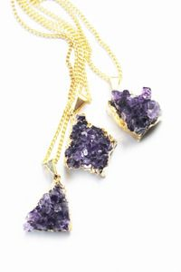 £38 Miniature GLORIOUS Amethyst pendant