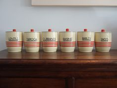 Art Dec Canisters Mintons Art Deco Kitchen, Kitchen Tools, Vintage Kitchen, Kitchen Canisters, Kitchenware, Tableware, Storage Jars, Kitchen Storage, Vintage Canister Sets