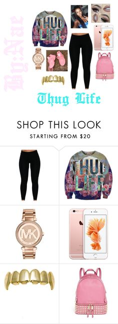 """THUG LIFE"" by naomionfleek ❤ liked on Polyvore featuring Michael Kors, MICHAEL Michael Kors, women's clothing, women's fashion, women, female, woman, misses and juniors"