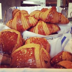 Good morning! A rainy Monday in NYC calls for warm, flaky chocolate croissants.