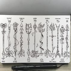 Zodiac Arrows✨ (complete set) Made by _picolo