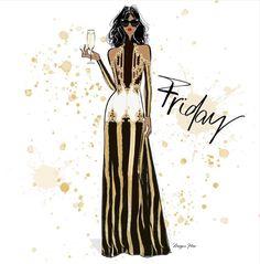 Megan Hess Illustration, Princess Illustration, Illustration Artists, Fashion Design Drawings, Fashion Sketches, Fashion Illustrations, Kerrie Hess, Coco Chanel Fashion, Chanel Decor