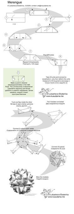 Merengue kasudama instruction diagram (see completed model on my board) Kusudama Me! - Modular origami!