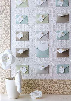 Advent Calendar Pastel Envelopes