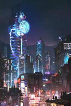 science fiction, Cyberpunk, Fantasy art, Cyber, Digital art Wallpapers HD / Desktop and Mobile Backgrounds Arte Cyberpunk, Cyberpunk City, Ville Cyberpunk, Cyberpunk Aesthetic, Futuristic City, City Aesthetic, Futuristic Architecture, Architecture Art, Amazing Architecture