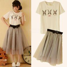 Bunny hop shirt & skirt