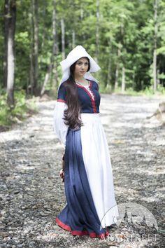 """Costume medievale """"Nontiscordardimé"""" Abito Camicetta Accompagnatrice Grembiule"""
