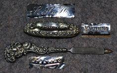 victorian silver 1800 | ... buffer manicure antique Victorian sterling silver vanity dresser 1800