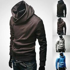 2016 Stylish Creed Hoodie Slim men's Cosplay For Assassins Jacket Costume New