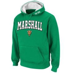 Marshall Thundering Herd Stadium Athletic Arch & Logo Pullover Hoodie - Kelly Green