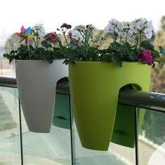 Grow plants easily on porches and balconies with this cool planter!
