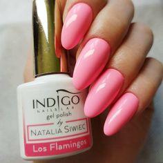 Los Flamingos Gel Polish by Renata Mastalska, Indigo Educator  #nails #nail #nailsart #indigonails #indigo #hotnails #summernails #springnails #omgnails #amazingnails #pastel #pastelnails #miami #nataliasiwiec #pink #pinknails #thinkpink