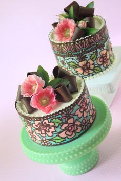 NEW VIDEO: How to Make Multi-Color/Solid Chocolate Cake Wraps by Julia M Usher Video here: http://youtu.be/SyIeBB6t6AA