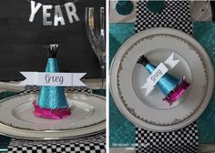 New Year Place Cards place setting idea. Love this!