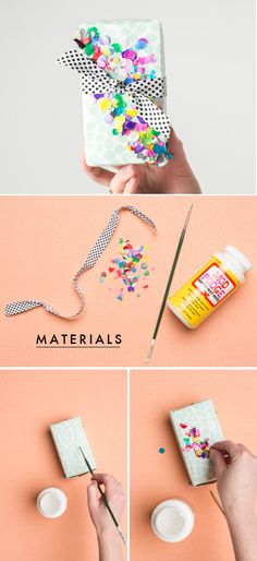 5 ways to gift wrap for spring – The House That Lars Built – Lovely Gifts Wrapping Gift, Gift Wraping, Creative Gift Wrapping, Creative Gifts, Wrapping Ideas, Pretty Packaging, Gift Packaging, Craft Gifts, Diy Gifts