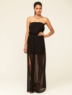 Woven Strapless Maxi Dress by Chelsea Flower on Gilt