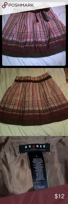 Axcess Liz Claiborne skirt Pretty linen and rayon skirt Axcess Skirts