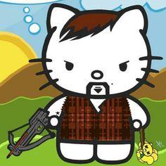 Daryl Dixon Hello Kitty!  <3