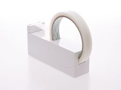 office tool: tape holder in pure white – minimal design inspiration | stationery . Schreibwaren . papeterie | Design: Plane Co. Ltd |