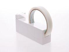 Tape dispenser, white, plastic