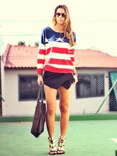 Short Saia + tricot - Blog de moda e look do dia Decor e Salto Alto