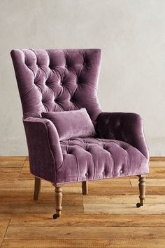 Anthropologie Slub Velvet Julienne Chair