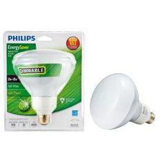 Philips 20-Watt (90W) Soft White CFL R40 Dimmable Flood Light Bulb (4-Pack)